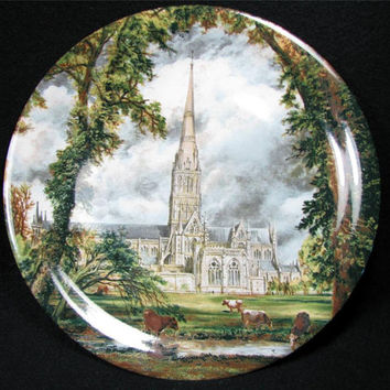 Wood & Sons SALISBURY CATHEDRAL Art Plate Made in England John Constable