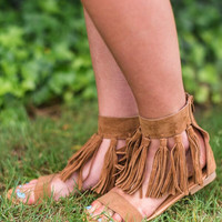 Tassel Around Brown Sandal