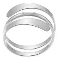 Sterling Silver Modern Wrap Ring