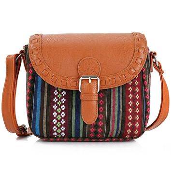 Vintage Star Stripe Boho Aztec Tribal Female Messenger Bag