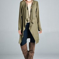 Waterfall Trench Coat Top