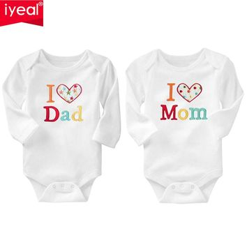 IYEAL Newborn Baby Clothing Long Sleeve Cotton Embroider Baby Rompers Girls Boys Clothes roupas de bebe Infantil Costumes 0-18M