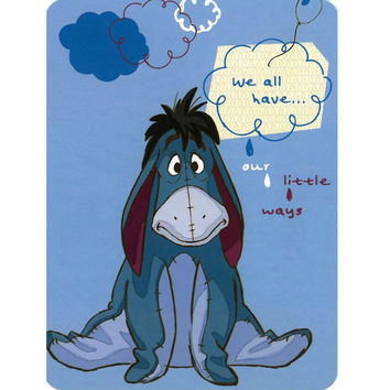 Winnie the Pooh Eeyore Our Little Ways 60x80 Blanket - Free Shipping in the Continental US!