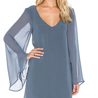 Gabby Low Back Dress in Storm Chiffon