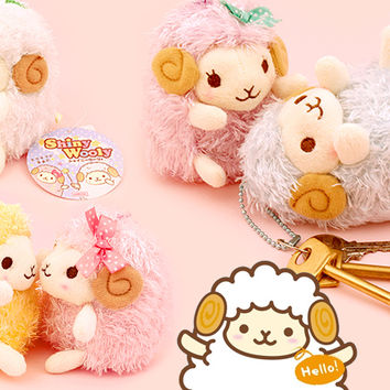 Buy Amuse Shiny Wooly Sheep Plush Keychain at Tofu Cute