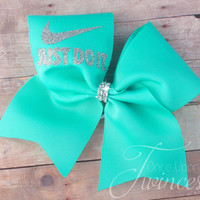 Cheer Bow - Aqua cheer bow - cheer bows - Customized cheer bow, practice bows, gifts for cheerleaders