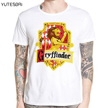 Magic School T-Shirt Four college Crest Design gryffindor ravenclaw hufflepuff slytherin T shirt Fashion Tshirt for Men Tee tops