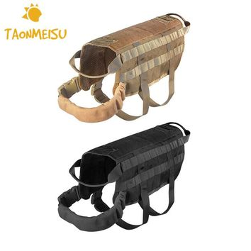 Dog Harness Vest for Walking Hiking Hunting Tactical Military Wearproof Training Harness for Service Dog Drop Shipping