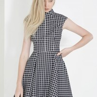 CAMEO Night Sky Dress BLACK CHECK