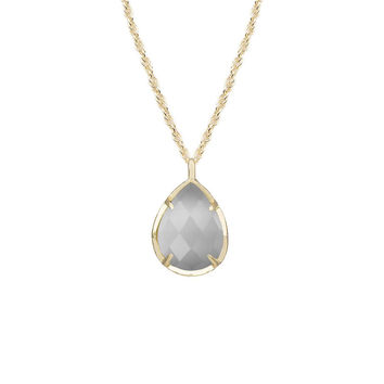 Kendra Scott Kiri Pendant Necklace In Slate in 14K Gold