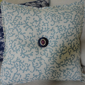 Cozy sofa throw and accent pillow set. dark blue/teal/cream/tan throw pillows. throw for sofas. Decorative sofa Throw. Decorative Pillow
