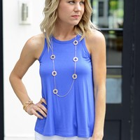 Royal Blue Tank Top-Veronica Trapeze Tank-$42.00 | Hand In Pocket Boutique