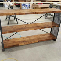 Industrial Cross Bar Shelving/ TV Console - Modern, rustic, industrial shelving for home and office