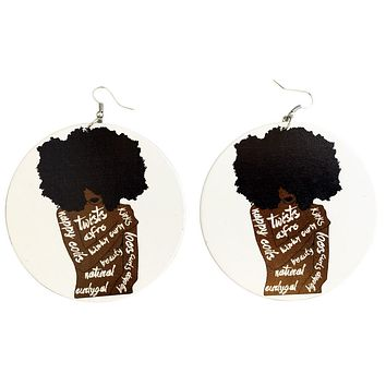 Unapollogetically Me Earrings | Natural Hair earrings | Afrocentric earrings | jewelry | accessories