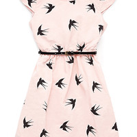 Darling Dove Dress w/ Belt (Kids)