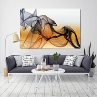 """The Invisible World-Movement 20, Abstract New Media Art, Wall Decor, Extra Large Abstract Brown Canvas Art Print up to 72"""", Irena Orlov"""