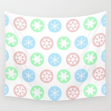 Let it snow  Wall Tapestry by Xiari