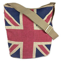 London Union Jack - Vintage UK Flag Messenger Tote Bag - 16-in