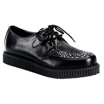 Demonia Black Leather One Inch Creepers