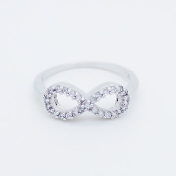 Infinity I sterling silver ring