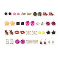 Assorted Edgy Stud Earrings Set of 20  | Claire's