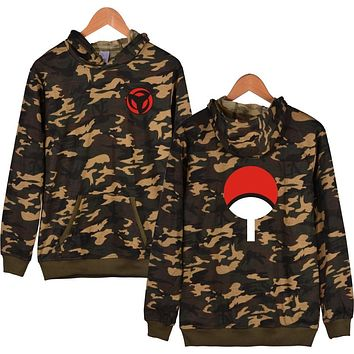 2017 New Arrival Men's Hooded Sweatshirt Naruto Cartoon Hoodies Camouflage Cotton Tracksuit Moletom Masculino Brand Clothing