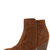 Heydays Tan Suede Ankle Boots