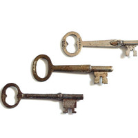 Vintage Skeleton Keys // set of 3 pieces // by IttyBittyBlossoms77