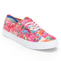 Vans Authentic Slim Pink & White Floral Print