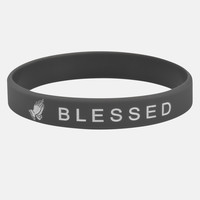 Blessed Gray and White Wristband