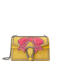 Gucci Dionysus Small Suede Shoulder Bag with Bow & Crystals