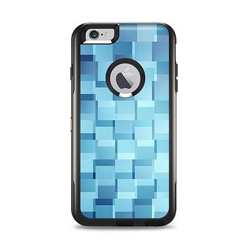 The Abstract Blue Cubed Apple iPhone 6 Plus Otterbox Commuter Case Skin Set
