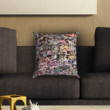 One Direction Collage Art Pillow Cover , Custom Zippered Pillow Case One Side Two SIde
