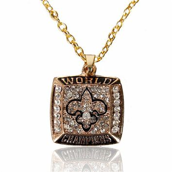 classic jewelry Personalized New Orleans Saints Pendant Necklaces Custom football team logo necklace Bridesmaid Gift