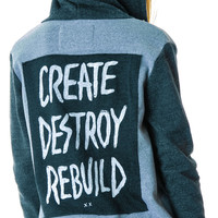 Glamour Kills Breaking Chains Hoodie Heather Grey