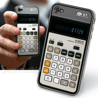 OLD-SCHOOL CALCULATOR iPHONE 4G CASE / RE-COVER