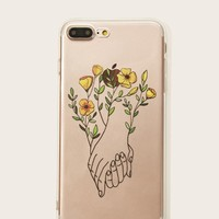 Foral & Hand Pattern iPhone Case