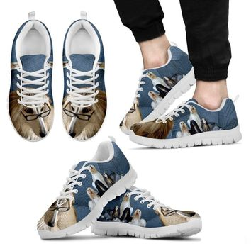 Afghan Hound Dog Running Shoes For Men-Free Shipping