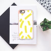 Chartreuse Strokes - Brightly Spring iPhone 6s case by Allyson Johnson | Casetify
