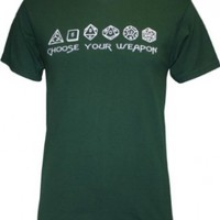 Dice Choose Your Weapon Men's T-Shirt, Medium