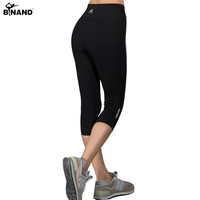 BINAND Summer Women Running Tights Elastic Breathable Sports Pants Slim Push Up Exercise Gym Fitness Yoga Capris 3/4 Pants