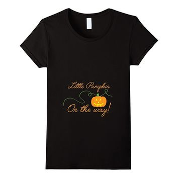 Little Pumpkin On the Way Shirt- Cute Pregnancy Announcement