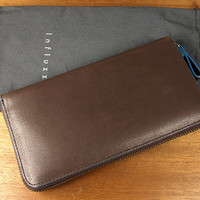 Baimiao Brown Leather Zip Around Wallet : leather wallet / Woman Leather Wallet / Leather Clutch Wallet / Leather Purse Wallet.