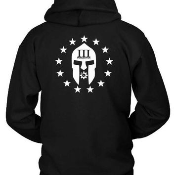 Three Percent Tyrant Hoodie Two Sided