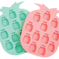 Pineapple Ice Tray, Coral/Seafoam, Set of 2, Cooking Prep Tools