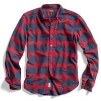 Red Plaid Oxford Shirt