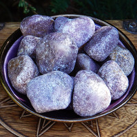 "Lepidolite Tumbled Gemstone . Large ""Stone of Transformation"""