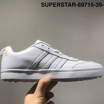 ADIDAS SUPERSTAR Leather cloth high-quality leisure men's shoes L-CSXY White
