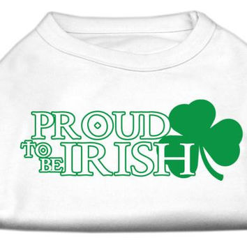 Proud to be Irish Screen Print Shirt White  Lg (14)