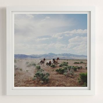 Kevin Russ Running Horses Art Print | Urban Outfitters